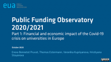 Public funding observatory 2020/2021: part 1: Financial and economic impact of the Covid-19 crisis on universities in Europe