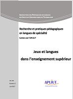 vol. 36, n° 2 - 2017 - Jeux et langues dans l'enseignement supérieur