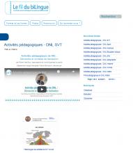 Activités pédagogiques - DNL SVT
