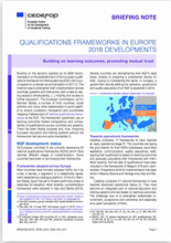 Qualifications frameworks in Europe 2018 developments