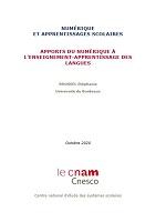 Numérique et apprentissages scolaires. Apports du numérique à l'enseignement – Apprentissage des langues