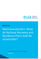 NextGenerationEU: what do national recovery and resilience plans hold for universities?