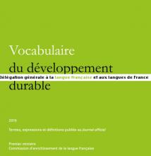 Vocabulaire du développement durable