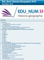 Lettre d'information sur le numérique en histoire-géographie