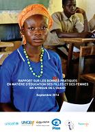 Rapport sur les bonnes pratiques en matière d'éducation des filles et des femmes en Afrique de l'Ouest
