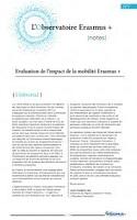 Evaluation de l'impact de la mobilité Erasmus +