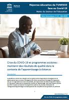 n°4.2 - Mai 2020 - Crise du COVID-19 et programmes scolaires : maintenir des résultats de qualité dans le contexte de l'apprentissage à distance