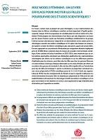 """n° 45 - septembre 2019 - """"Role models féminins"""" : un levier efficace pour inciter les filles à poursuivre des études scientifiques ?"""
