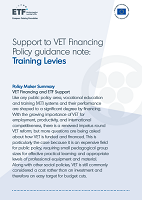 Support to VET financing – Policy guidance note: Training levies