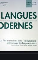 Sens et émotions dans l'enseignement-apprentissage des langues-cultures : dossier