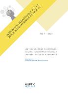 n°1 - 2021 - Les technologies numériques ... nouvelles opportunités pour l'apprentissage en alternance