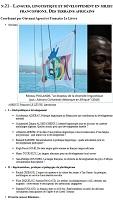 n° 21 - septembre 2020 - Langues, linguistique et développement en milieu francophone. Des terrains africains