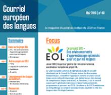 n° 40 - mai 2018 - Le projet EOL - Des environnements d'apprentissage optimisés pour et par les langues