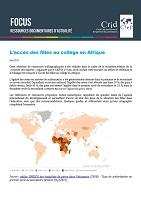 L'accès des filles au collège en Afrique - Sélection de ressources bibliographiques