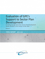 Evaluation of GPE's support to sector plan development : including through education sector plan development grants (ESPDG) in the context of GPE 2020 : phase 2 : final report