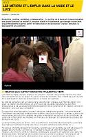 Les métiers et l'emploi dans la mode et le luxe