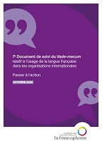 7e document de suivi du Vade-mecum sur le français dans les organisations internationales