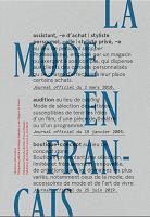 La mode en français : dire la mode en français