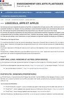 Logiciels, apps et applis en arts plastiques