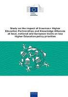 Study on the impact of Erasmus+ higher education partnerships and knowledge alliances at local, national and European levels on key higher education policy priorities: final report