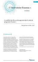 La mobilité des élèves et des apprentis dans le cadre du programme Erasmus + : état des lieux en 2016-2017