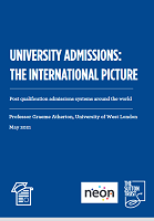 University admissions: the international picture: post qualification admissions systems around the world