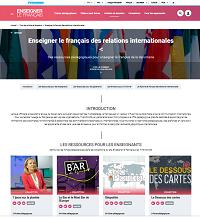Enseigner le français des relations internationales