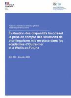 Évaluation des dispositifs favorisant la prise en compte des situations de plurilinguisme mis en place dans les académies d'Outre-mer et à Wallis-et-Futuna