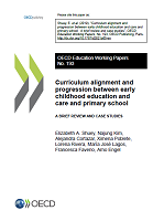 Curriculum alignment and progression between early chilhood education and care and primary school: a brief review and case studies