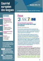 n° 42 - décembre 2019 - 25 ans d'éducation aux langues
