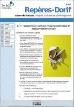 n° 17 - 2018 - Diversité linguistique, progrès scientifique et développement durable