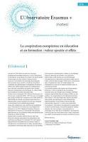 La coopération européenne en éducation et en formation : valeur ajoutée et effets