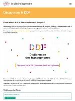Découvrons le DDF