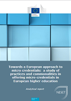 Towards a European approach to micro-credentials: a study of practices and commonalities in offering micro-credentials in European higher education