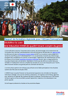 Rapport de formation régionale pour l'Afrique francophone. Déchiffrer le code : une éducation STEM de qualité tenant compte du genre