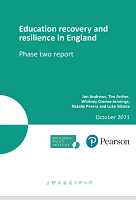 Education recovery and resilience in England: phase two report
