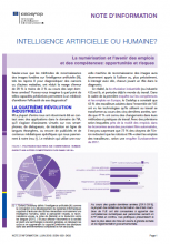 N° 9140 FR - Juin 2019 - Intelligence artificielle ou humaine ? La numérisation et l'avenir des emplois et des compétences : opportunités et risques