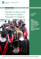 Equality of access and outcomes in higher education in England