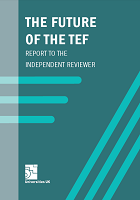 The future of the TEF: report to the independent reviewer