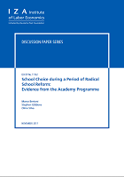 School choice during a period of radical school reform: evidence from the academy programme