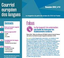 n° 41 - novembre 2018 - La/les langue(s) de scolarisation : une feuille de route pour les établissements scolaires