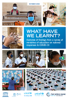 What have we learnt? Overview of findings from a survey of ministries of education on national responses to COVID-19