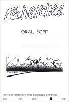 n° 54, 1 - 2011 - Oral écrit
