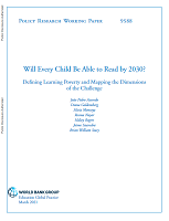 Will every child be able to read by 2030? Defining learning poverty and mapping the dimensions of the challenge