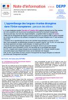 17-15 - juin 2017 - L'apprentissage des langues vivantes étrangères dans l'Union européenne : parcours des élèves