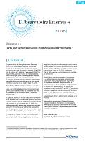 Erasmus + : vers une démocratisation et une inclusion renforcées ?