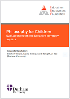 Philosophy for children: evaluation report and executive summary