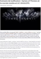 Games of Thrones - scénario ludique