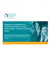 Améliorer les compétences en numératie des élèves de niveau postsecondaire : quelle est la voie à suivre ?