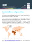 L'accès des filles au collège en Afrique - Sélection de ressources bibliographiques - application/pdf